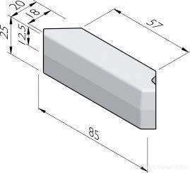 Inrit hoekbanden 18/20x25 vb