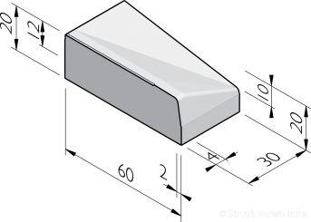 Inritbanden 60x20x30 vl