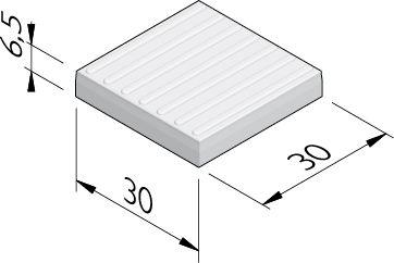 Geleidelijntegels (7 ribbels)