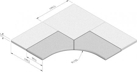 Hoekoplossing R=1,50