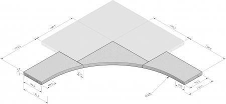 Hoekoplossing R=3,50