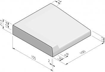 Inritbanden 105x21,5x100 vl