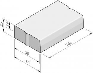 Trottoirbanden 58/60x25