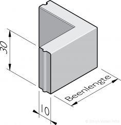 Opsluitband hoekstukken 10x30 hd