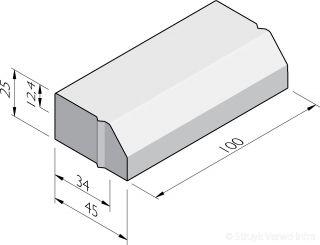 Trottoirbanden 34/45x25
