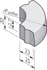 Trottoirbochtbanden 23/25x20