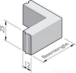 Opsluitband hoekstukken 12x25