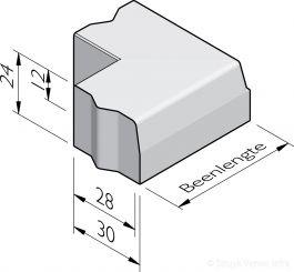 Trottoirband hoekstukken 28/30x24