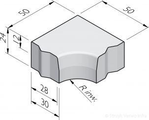 Hoekblokken 28/30x24