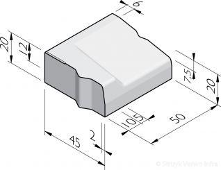 Inritbanden 45x20 aansluiting 28/30