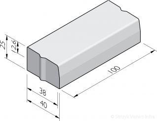 Trottoirbanden 38/40x25