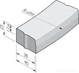Trottoirbochtbanden 38/40x25