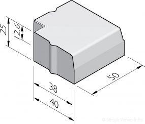 Trottoirband hoekstukken 38/40x25
