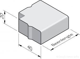 Trottoirband hoekstukken 40x20