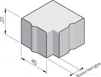 Trottoirband hoekstukken 40x35