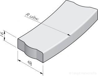 Trottoirbochtbanden 48x16