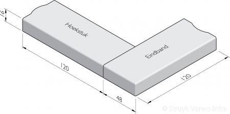 Trottoirband hoekstukken 48x16