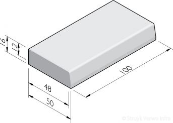 Trottoirbanden 48/50x16