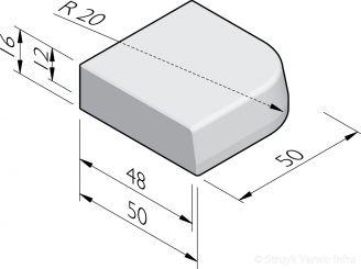 Trottoirband hoekstukken 48/50x16