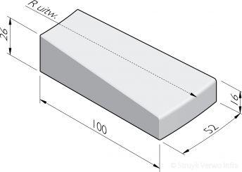 Inritbochtband 100x26