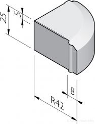 Rijwielpad hoekblokken 4/12x25
