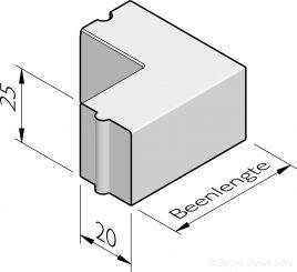 Opsluitband hoekstukken 20x25