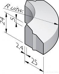 PWS bochtbanden 25x13/24