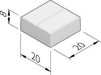 Duotegels 20x20