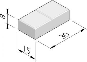 Duotegels 15x30
