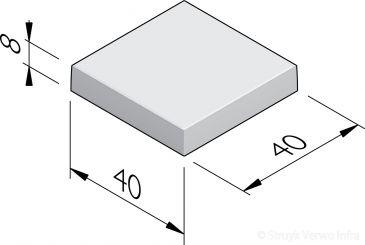 Witte Terrastegels 40x40.Tegels 40x40 Trottoirtegels