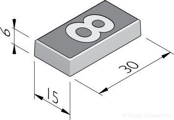 Cijfertegels 15x30