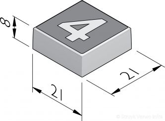 Cijfertegels 21x21