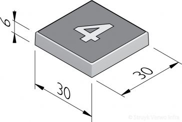 Cijfertegels 30x30