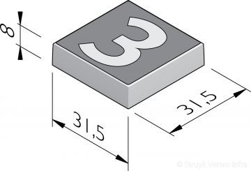 Cijfertegels 31,5x31,5