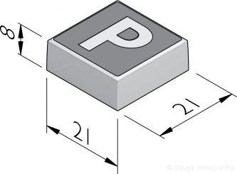 P-tegels 21x21