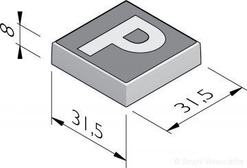 P-tegels 31,5x31,5