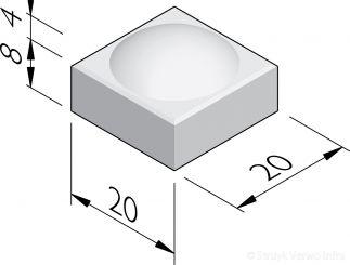Boltegels 20x20