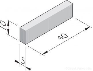 Betonstraatstenen 40x5