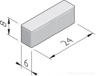 Betonstraatstenen 24x6