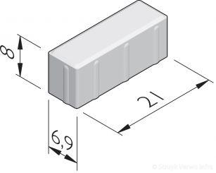 Dikformaatstenen 21x6,9