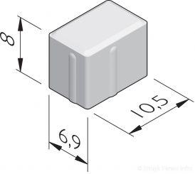 Halve betonstraatstenen 10,5x6,9