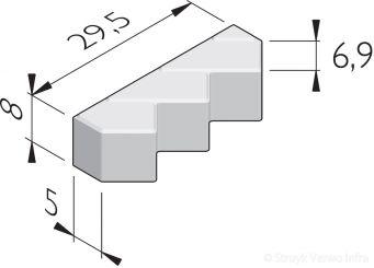 Driepuntsmutsen 21x6,9