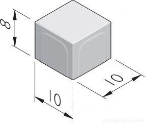 Halve betonstraatstenen 10x10