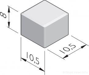 Halve betonstraatstenen 10,5x10,5