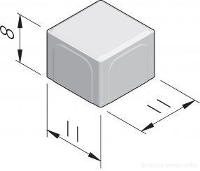 Halve betonstraatstenen 11x11