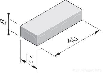 Betonstraatstenen 40x15