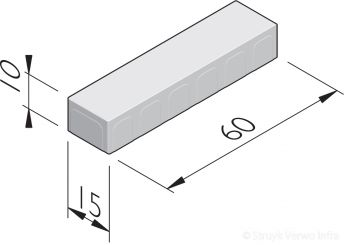 Betonstraatstenen 60x15