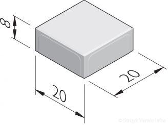 Dubbelbetonstraatstenen 20x20