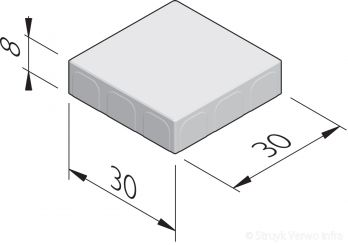 Betonstraatstenen 30x30
