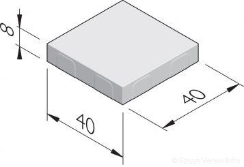 Betonstraatstenen 40x40